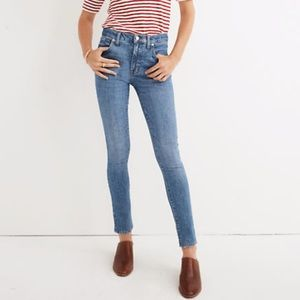 "Madewell 9"" High Rise Skinny Stretch Comfort Jeans"